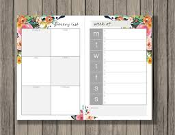 Menu Planner With Grocery List Template Meal Planning Printable Grocery List Printable Meal Planner