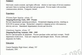 Shipping And Receiving Resume Samples by Shipping Receiving Clerk Resume Sample Shipping And Receiving