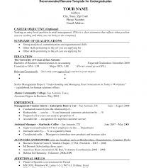 student resume templates resume template college student for application exles