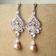 vintage wedding jewelry chagne wedding earrings deco bridal earrings vintage