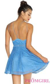 cheap short open back casual party dress promgirl