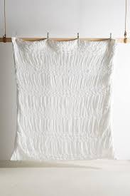 ruched white duvet cover and sham
