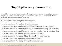 Pharmacy Resume Examples by Top 12 Pharmacy Resume Tips 1 638 Jpg Cb U003d1430703562