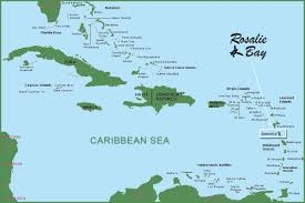 Map Of The Caribbean Islands by Map Of Dominica And Rosalie Bay Resort