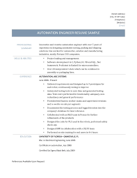 Electrical Testing Engineer Resume Design Automation Engineer Sample Resume Resume Templates
