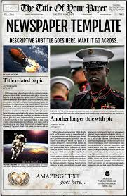 newspaper template photoshop best template examples