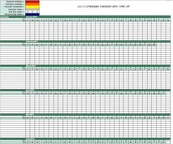 Accrual Spreadsheet Template Vacation And Sick Time Tracking Spreadsheet And Vacation Tracker