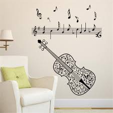 online buy wholesale music notes violin from china music notes 2017 new violin music notes wall sticker tv sofa background adesivos de parede home decor living