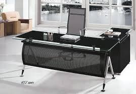 Fice Desks Glass top Office Desk with Drawers  Pastoral Desk