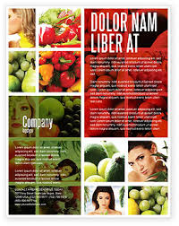 nutrition brochure template nutrition flyer template background in microsoft word publisher