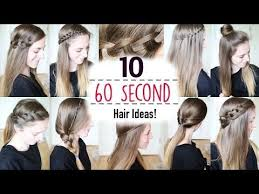 heatless hairstyles for thin hair ten 60 second heatless hairstyles 1 minute hairstyles quick