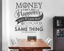 Wall Decals For Dining Room Cupcake Wall Decal Etsy