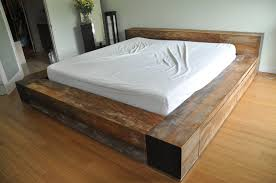 Wood King Platform Bed With Drawers Bedding Fancy Reclaimed Wood Platform Bed