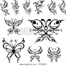 small butterfly tattoos butterfly stock vector stock