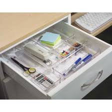Desk Drawer Organizer by Drawer Bins Storage Baskets And Dividers Organize It
