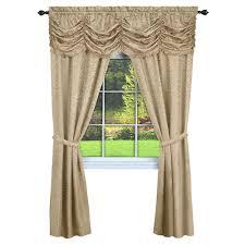 Chesapeake Tie Up Shade by Achim Semi Opaque Panache Tan Window In A Bag Curtain 55 In W X