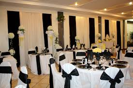 semi formal table decorations photograph whiteyellow black white