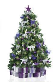 tree decorations purple and silver designcorner