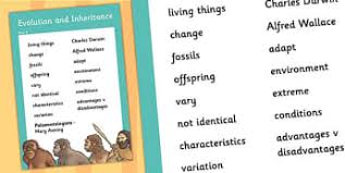 evolution and inheritance year 6 science resources page 1