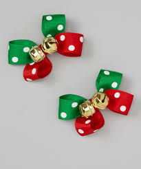 red u0026 green polka dot jingle bell bows u2022 make your own to use as