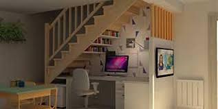 bureau sous escalier amenagement bureau sous escalier sous pente sous escalier