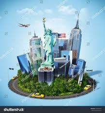 New York travelers stock images Famous symbols new york city traveling stock illustration jpg