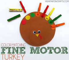 color matching motor turkey toddler activity