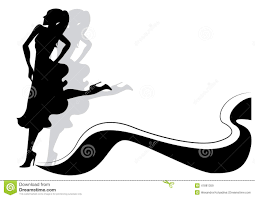 a couple dancing tango cartoon clipart vector toons silhouette of woman dancing tango stock vector illustration