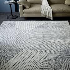 Modern Patterned Rugs Ribbon Waves Wool Rug West Elm