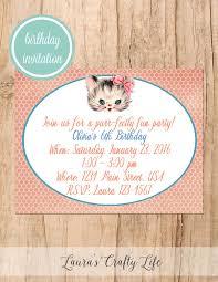 kitten birthday party laura u0027s crafty life