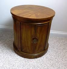 drum end table vintage drexel heritage drum end table ebth