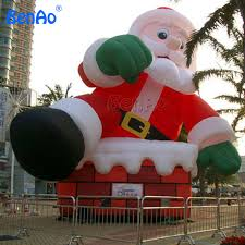 christmas inflatables x043 santa claus 9m height ce ul blower included dhl free