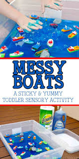 taste safe ice painting process art art techniques and monsters messy boats create an amazing sensory activity for toddlers and preschoolers an easy outdoor