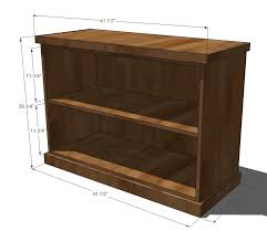 Wood Shelf Plans Diy by Ana White Build Your Own Office Wide Bookcase Base Diy Projects