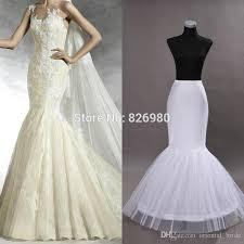 wedding dress hoop new hot sale white 2 hoop fishtail mermaid wedding dress bridal