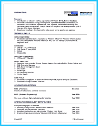 Sample Sql Server Dba Resume by Db Administrator Cover Letter