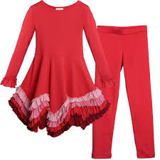lemon loves lime red u0027crayon power u0027 dress with ruffled hem