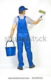 paint man man painting wall stock images royalty free images vectors