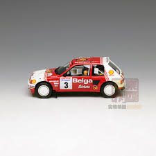 peugeot 205 group b otto 1 18 peugeot 205 t16 group b belga rallye resin model car