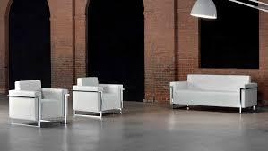 canapé 3 places cuir blanc memoria canapé 3 places en cuir blanc monbureaudesign fr