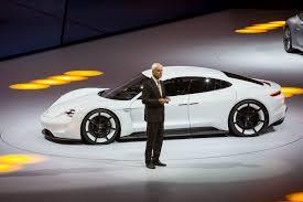 porsche electric mission e porsche stuns frankfurt with all electric mission e sports sedan