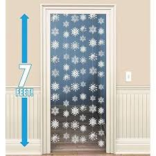 hanging strings of snowflakes decorations x 6 decor