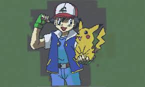 ash and pikachu minecraft project