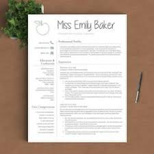 resume template for teachers free editable resume template tpt free lessons