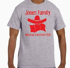 lot of 10 personalized mexican family vacation t shirts