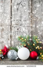 Silver And White Christmas Decorations Red Silver White Christmas Ornaments Xmas Stock Photo 529366228