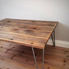 reclaimed timber coffee table large reclaimed softwood coffee table with hairpin legs