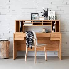 bureau etroit incroyable meuble de rangement salle de bain 16 bureau en teck