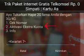 cara mendapatkan internet gratis telkomsel ssstt ini kode daftar paket internet gratis rp 0 telkomsel