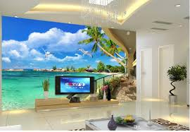 Wall Murals 3d 3d Balcony With Sea View Tv Wall Mural 3d Wallpaper 3d Wall Papers